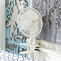 Campus Linens Easy Clip College Comfort Fan for College Dorm Essentials