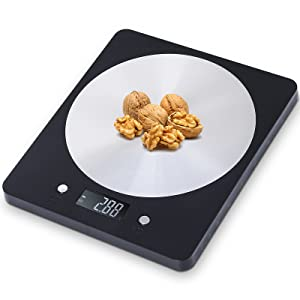 Digital Food Scale - Food Scale for Weight Loss,Grams and oz,Baking Scale for Kitchen/Cooking/Home,1g/0.1oz Precise Graduation,Batteries Not Included