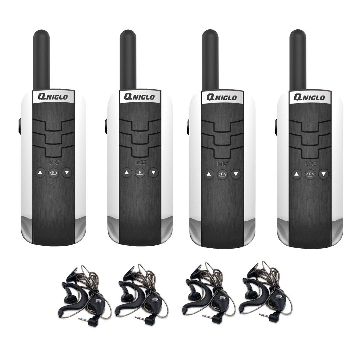 Eoncore Q311 Mini Walkie Talkie Two Ways Radio Toy GMRS Handheld Walkie Talkie for Kids Adults 3 Miles Long Range 16 Channels (4 Pack)