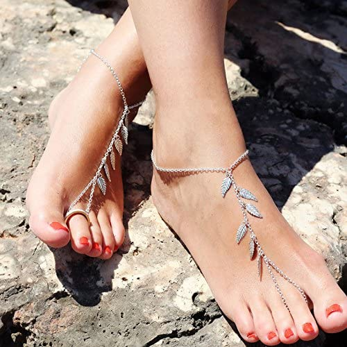 Boho Anklet Silver Gold Charm Chain Bracelet Foot Sandal Ankle Women Jewelry NEW