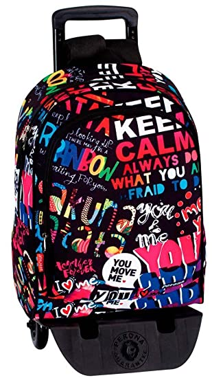 Montichelvo Backpack A.O. Pr You and Me Cartable, 43 cm, (Multicolour)