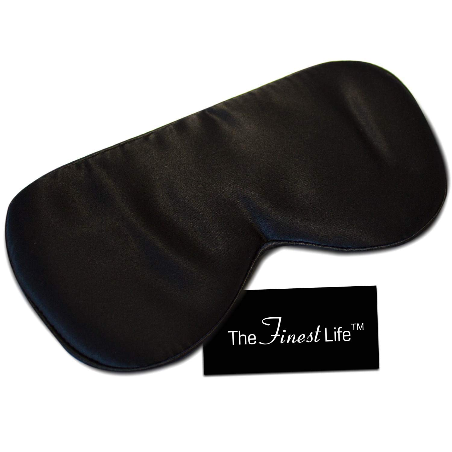 The Finest Life Natural Silk Sleep Mask Great for Sleep, Premium Quality Eye Mask with Adjustable Strap, Sleeping Aid, Blindfold, Perfect for Women, Men, Girls, Boys