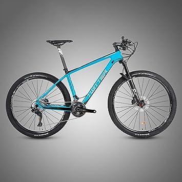 Bicicleta Montaña 27.5/29, M8000-22/33 Velocidad, Freno de Disco de Aceite Shimano, Full Suspension, Fibra de Carbon,Azul,29inch*15inch: Amazon.es: Deportes y aire libre