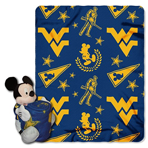 - The Northwest Company Officially Licensed NCAA West Virginia Mountaineers Co Mickey Hugger and Fleece Throw Blanket Set, 40