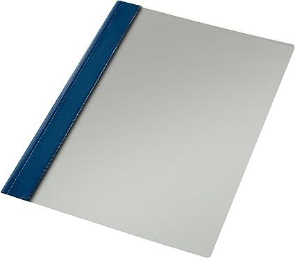 Esselte Carpeta dossier fastener, Plástico, A4, Sin tarjetero, Pack de 50, Azul marino, Modelo 132/1, 13216: Amazon.es: Oficina y papelería
