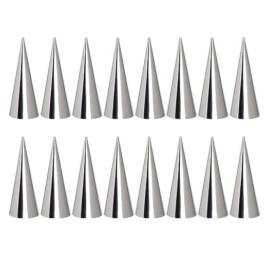 BESTONZON 16 moldes cónicos de acero inoxidable para pastelería ...