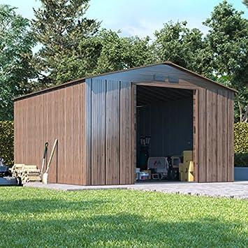BillyOh socio madera Metal caseta de jardín | Apex techo grande cobertizo al aire libre: Amazon.es: Jardín