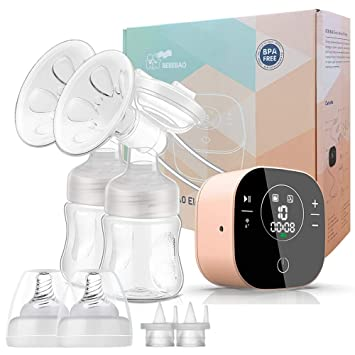 Tragbare elektrische Milchpumpe Ultra Leise wiederaufladbar 4 Modi 16 Stufen