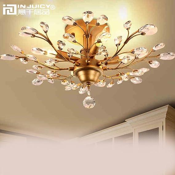 Amazon.com: injuicy Lighting clásico Crystal metal Edison ...