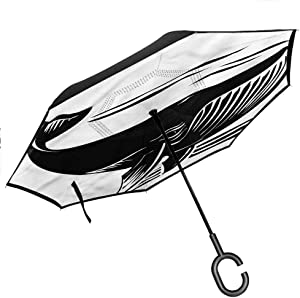 "Combynee Whale Inverted Umbrella, Kings of The Ocean Asleep Better Than Most Umbrellas, 42.5""x31.5""Inch"