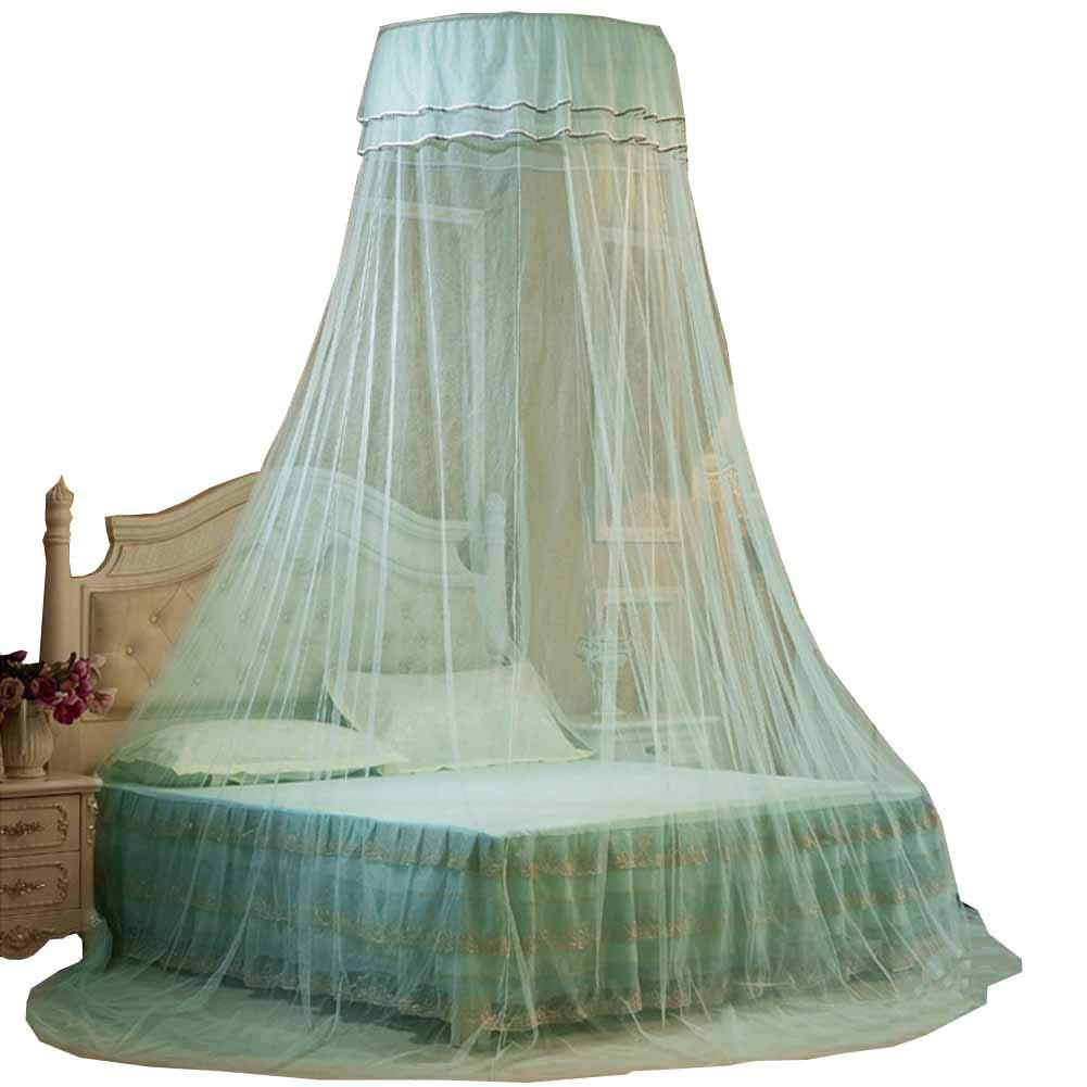 POPPAP Princess White Canopy for Baby Crib Bed Net Ceiling Hanging Round Mosquito Netting MEMERYPOPPAP033
