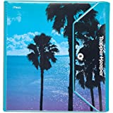 Mead Trapper Keeper Round Ring Binder, 1.5 Inch, Fashion Palm Trees, Blue/Purple (73427)