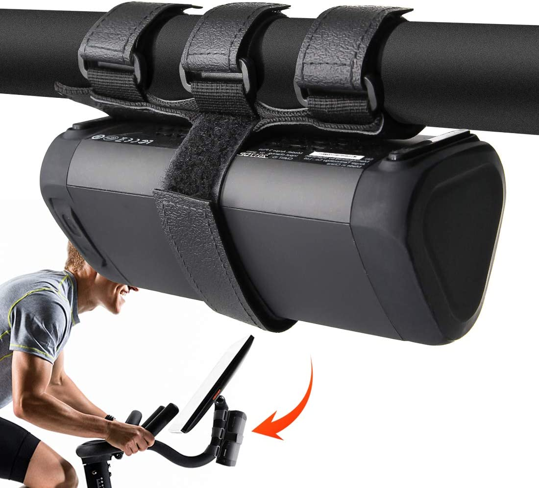 Universal Speaker Mount for Peloton Bike Adjustable Strap Attachment Accessory Holder Bar Rail for Peloton Bike Fits Most Bluetooth Wireless Speakers
