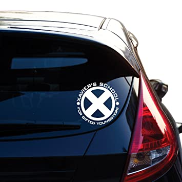 Xaviers school for gifted youngsters inspired by x men decal sticker for car window