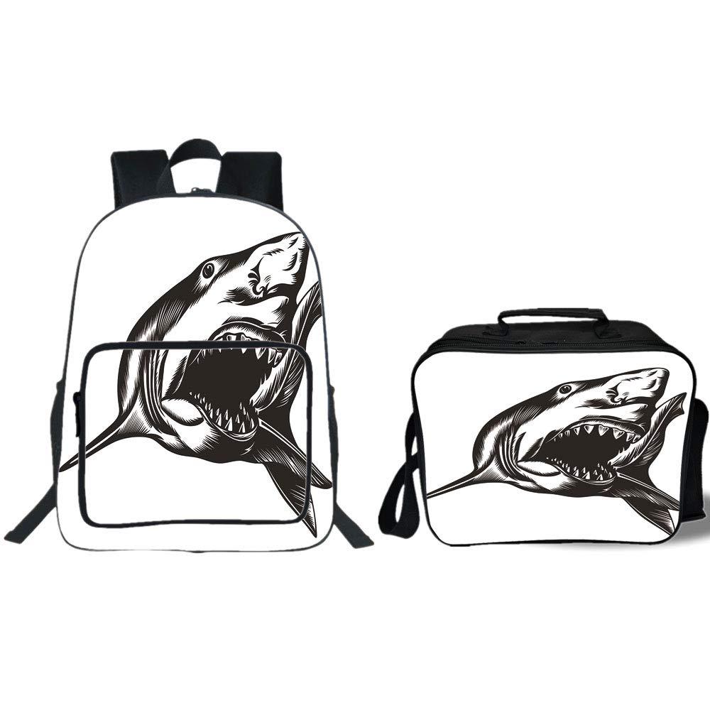 Amazoncom Iprint 19 School Backpack Lunch Bag Bundle