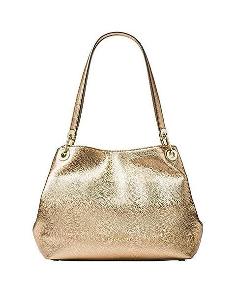 2893f61957eb MICHAEL Michael Kors RAven Women's Large Leather Shoulder Tote, Pale Gold:  Amazon.ca: Shoes & Handbags