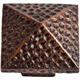 The Copper Factory CF110AN Solid Cast Copper Large Pyramid Knob, Antique Copper