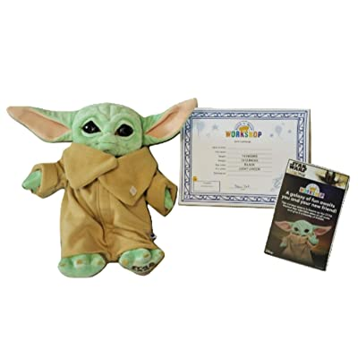Build A Bear The Child Baby Yoda 14in. Stuffed Plush Toy: Toys & Games