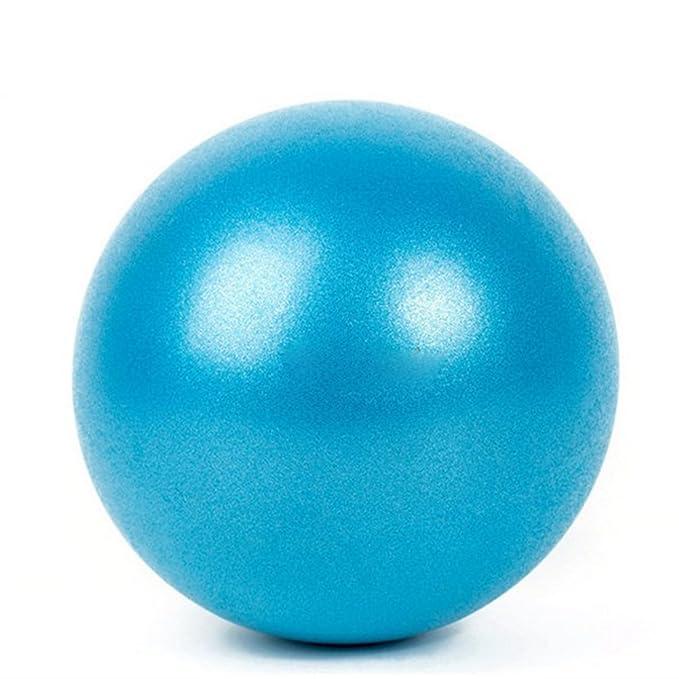 ATC Handels GmbH Gymnic Ballon de Gymnastique avec balles de Yoga Bleu//Jaune 23 cm