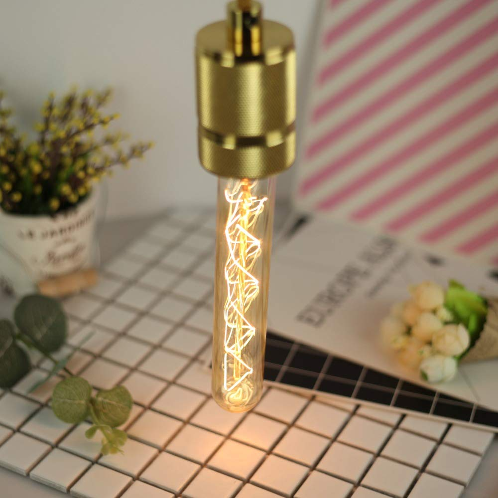 Retro Edison dimmable ampoules lancienne style longue tube verre ampoule antique d/écorative blanche chaude Lampe /à /éclairage spirale filament lampe,2pack BELYSN 40W E27 Vintage Ampoule