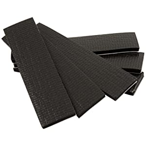 "SoftTouch Self-Stick Non-Slip Surface Grip Pads - (6 pieces), 1"" x 4"" Strip - Black"