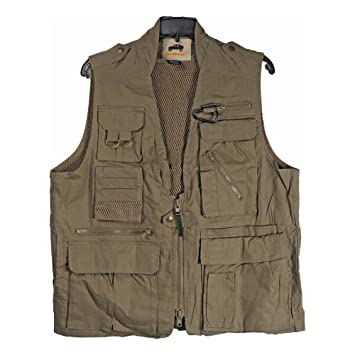 Campco Humvee Safari Travel Vest Olive Drab Medium Amazoncouk