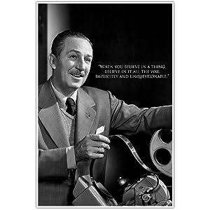 Believe, Walt Disney Quote Wall Art Poster
