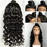ATOZWIG Big Body Curly Synthetic Front Lace Wigs For Black Women Body Wave Glueless Lace Front Wig With Baby Hair