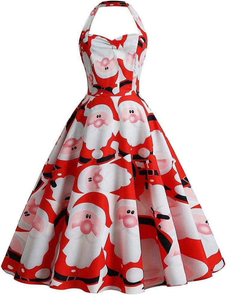 Longzjhd - Vestido de Navidad para mujer, con impresión de ...