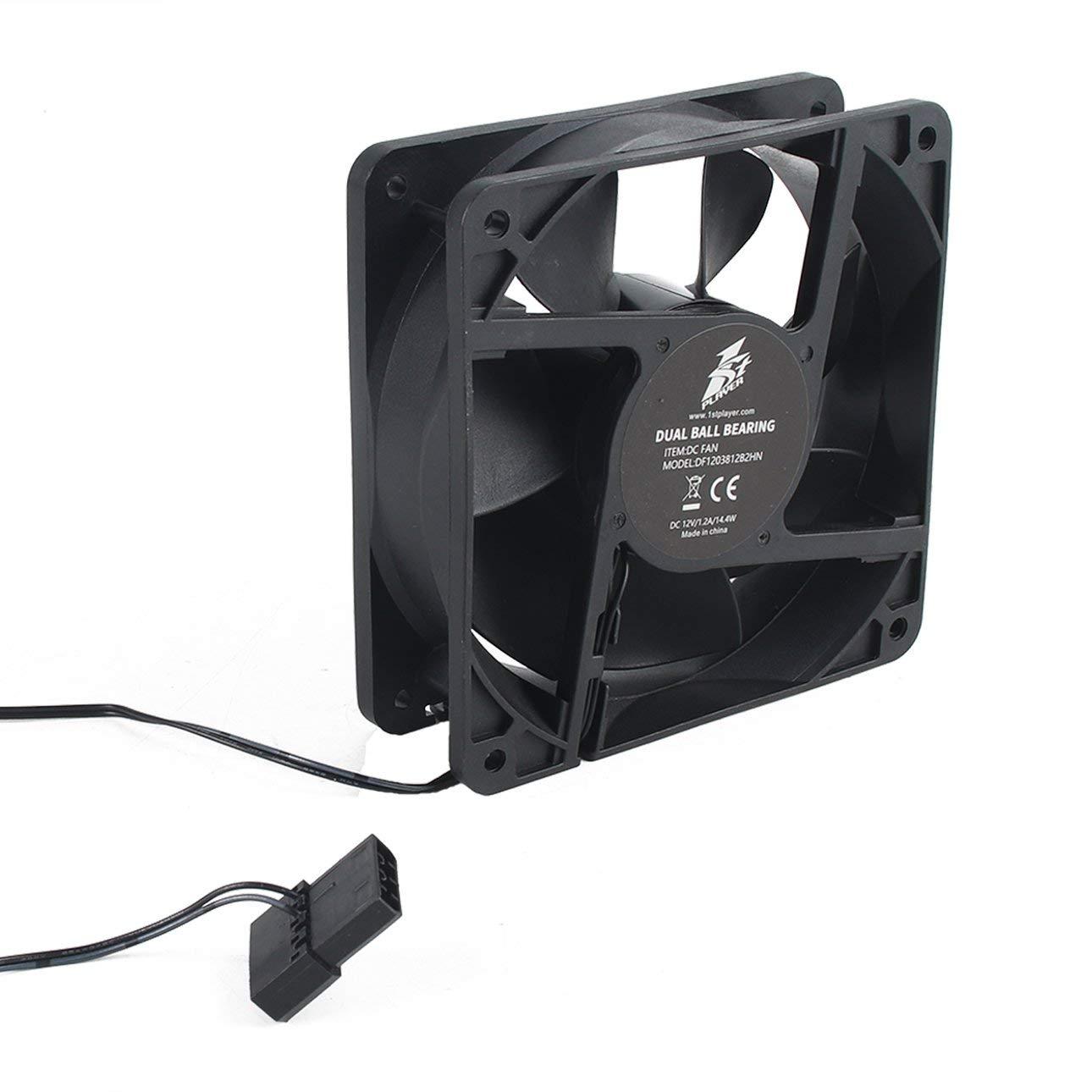 Ballylelly Ventilatore di raffreddamento a 7 pale 12V 4000RPM Ventilatore di raffreddamento 120MM Ventilatore portatile Ventilatori Alimentatore Ventola del radiatore