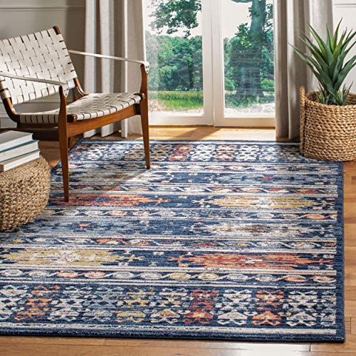(Safavieh CHL421N-4 Charleston Collection CHL421N Navy and Ivory (4' x 6') Area Rug,)