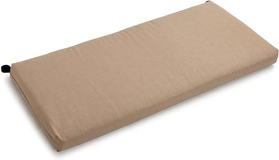 Blazing Needles Solid Outdoor Spun Polyester Loveseat Cushion