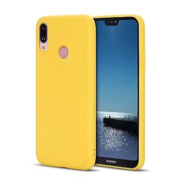 SpiritSun Funda Huawei P20 Lite, Suave Silicona Carcasa Flexible Gel TPU Protectora Case Tapa Ultra Ligero Mate Goma Blando Cubierta Trasero para ...