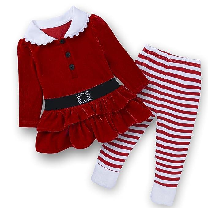 Amazon.com: Bebé Niños Niñas 2pcs navidad vestido de ...