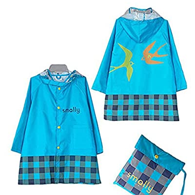4Young Kids Cartoon Raincoat Lightweight Rain Gear Waterproof Rain Jacket Girls and Boys