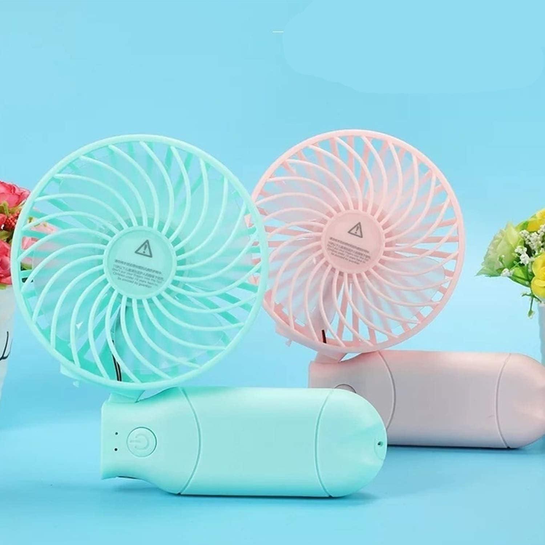 XIAOF-FEN Handheld Multifunction Fan USB Mini Portable 3 Speed Small Foldable Fan USB Fan Color : Purple