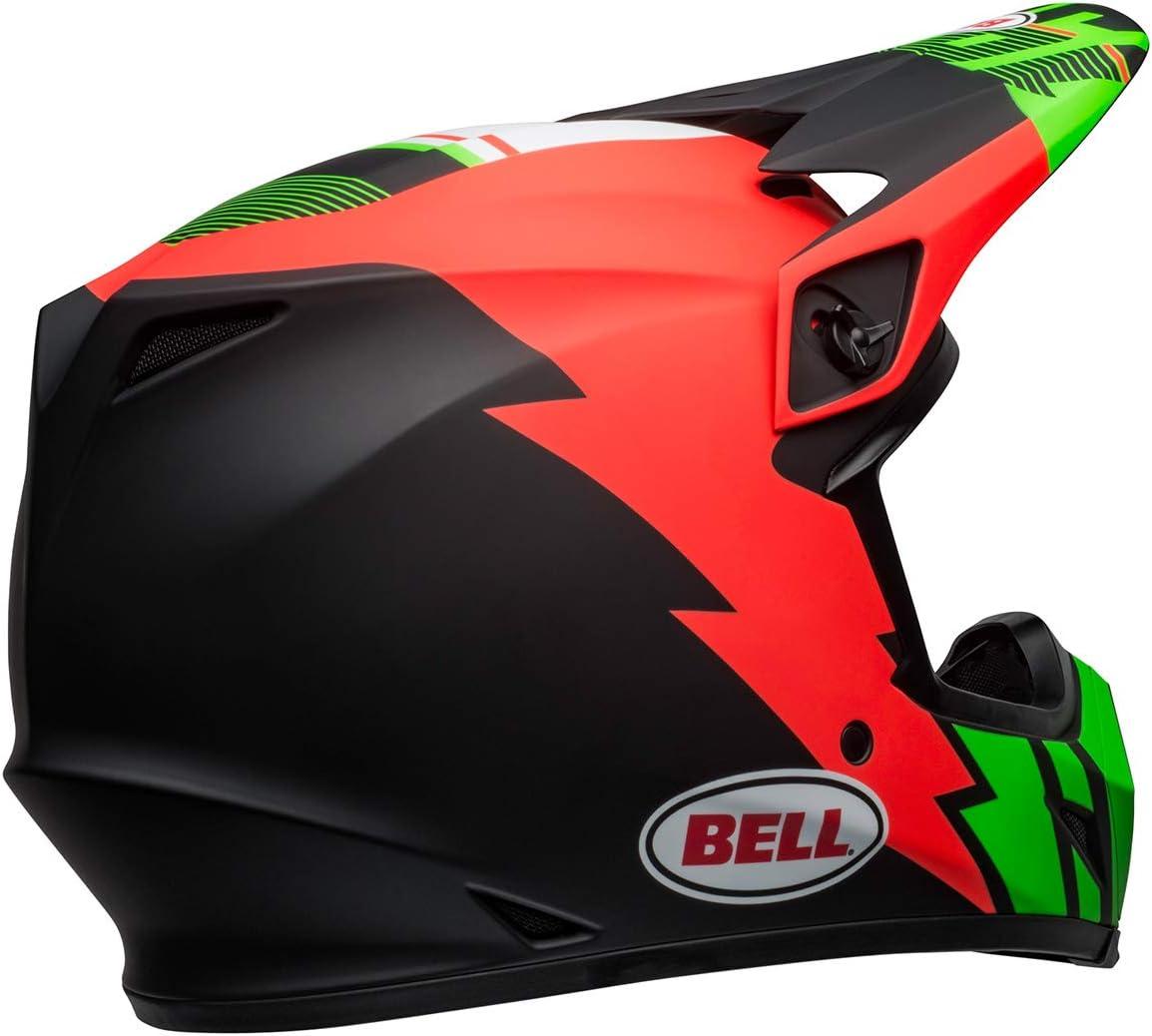 Bell MX-9 MIPS Off-Road Motorcycle Helmet Strike Matte Infrared//Green//Black, XX-Large