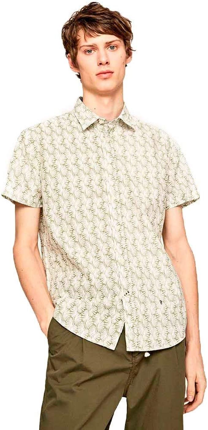 Pepe Jeans Camisa Lincoln Verde para Hombre: Amazon.es ...