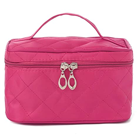 8f795f9b25 Buy Uberlyfe Cosmetic Bag/Travel Organizer With Cosmetic Pouch, Pink Online  at Low Prices in India - Amazon.in