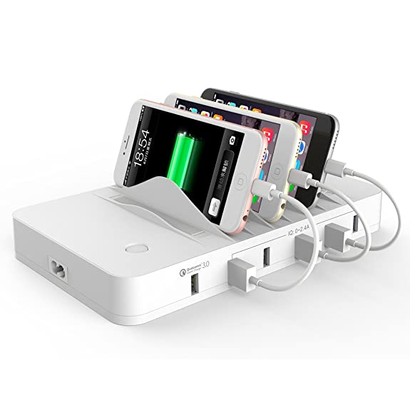 [Quick Charge 3.0] HITRENDS Charging Station Dock, Qualcomm QC 3.0 Cell  Phone Charging