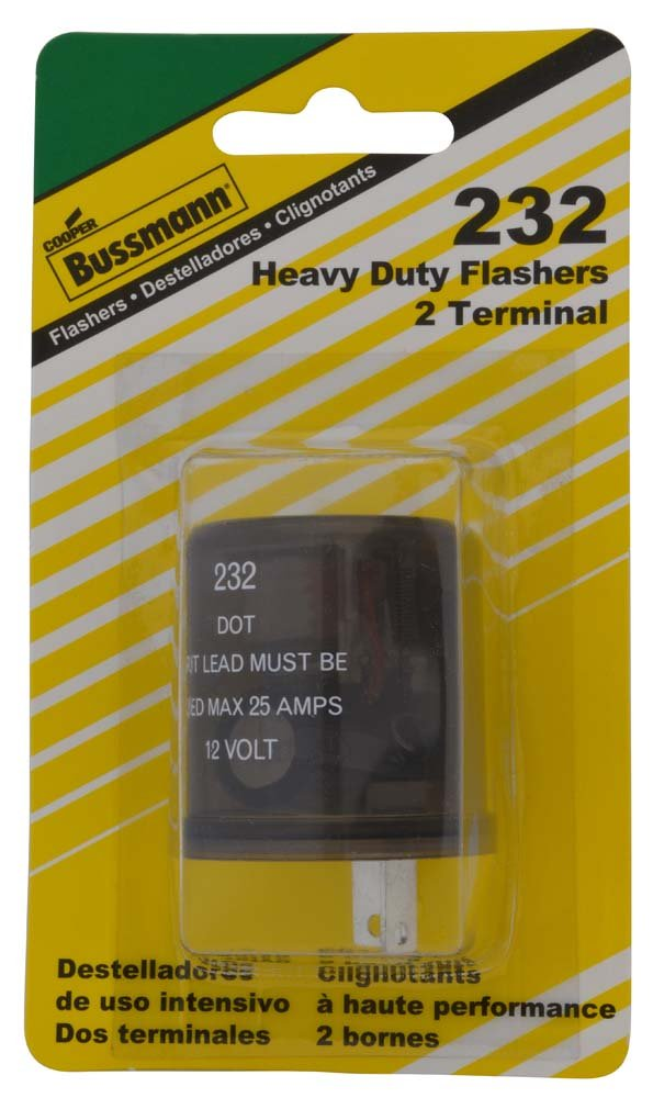 Bussmann (BP/232-RP) Round 20 Amp 12V DC Carded Heavy-Duty Electronic Flasher