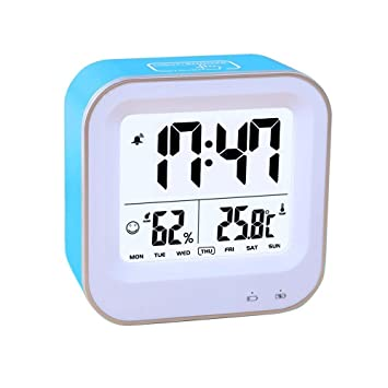 Bedroom 3 In1 Multifunction Alarm Clock, Rechargeable Alarm Clock With 12h  Or 24h/Temperature