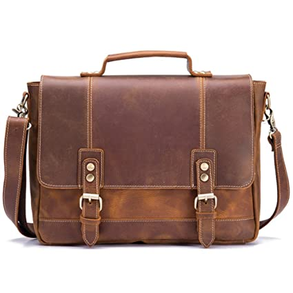 FHGJ Mens Backpack Leather Mens School Bags Fashion Mens Travel Messenger Bags