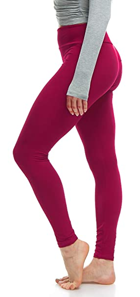 fb906f289a LMB Women's Extra Soft Leggings with High Yoga Waist Pants 40+ Colors Plus  Sizes
