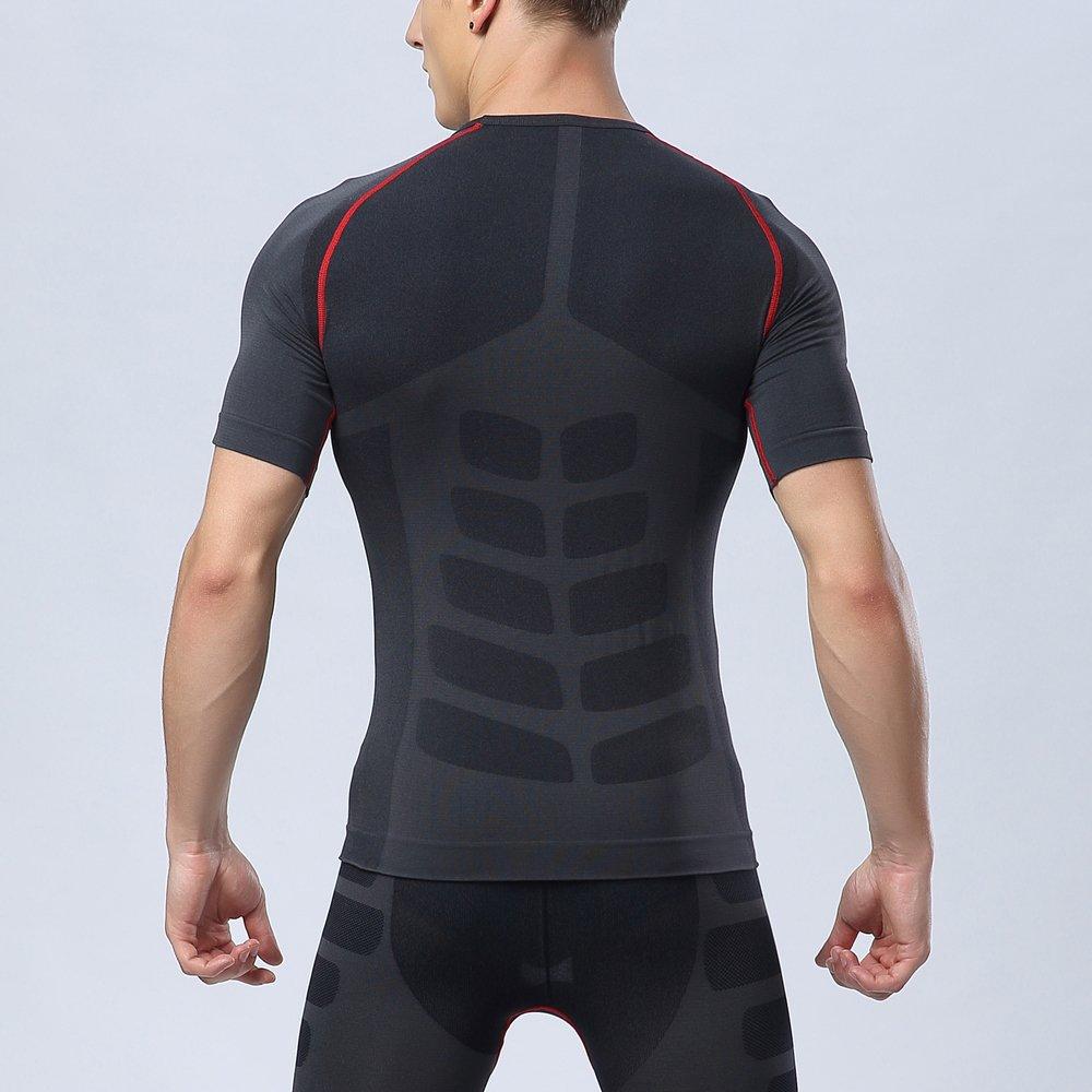 Bwiv Camiseta Hombre Deportiva Camiseta Compresión Hombre Manga Larga  Fitness Gimnasio Aire Libre para Entrenamiento Ciclismo ... 95fadfd7b90ce