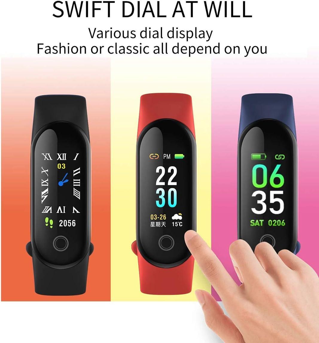 Color : Red Best-ycldcyp Smart Bracelet Heart Rate Blood Pressure ...