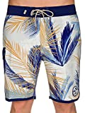 Best Van'an Mens Swimwear - Vans Men's Stretch Mixed Scallop Board Shorts-Blue/Multi-38 Review