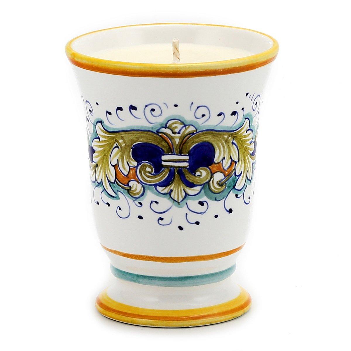 DERUTA CANDLE: Bell Cup DERUTA FOGLIE Design, Tuscan Apple Harvest
