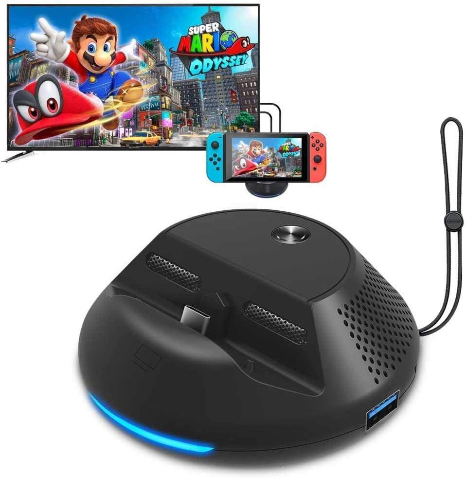 Estación de Acoplamiento para Nintendo Switch Dock & Stand con 3 Puertos USB 1080P HDMI, Modo de TV y Modo de Consola: Amazon.es: Hogar