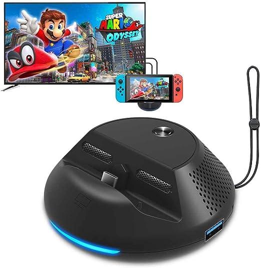 Estación de Acoplamiento para Nintendo Switch Dock & Stand con 3 ...